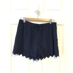 Silk joie shorts with drawstring